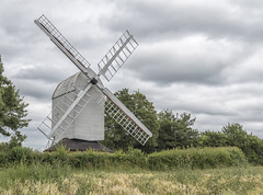 Ashdon Mill (David Feuerhelm) Tags: nikkor windmill mill postmill ashdon sails wood old historic history trees clouds essex england countryside nikon d750 2470mmf28