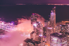 (6.18.18)-360_Fog-WEB-12 (ChiPhotoGuy) Tags: chicago architecture skyline cityscape clouds cloudporn fog foggy chasingfog weather night dusk bluehour observatory moody
