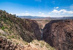Royal Gorge (Wits End Photography) Tags: bridge travel water colorado sky river architecture royalgorge bluesky blue clear cloudless infrastructure landscape nature outdoor sunny tourism tourist traveling watercourse waterway structure