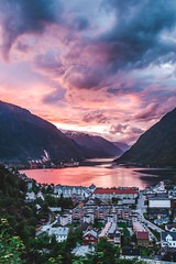 Sunset Odda, Norway - June 2018 (kasperskreien) Tags: nikon d700 2470 f4 fx fullframe odda norway nature norge nice weather color contrast composition cloudy clouds beautiful sun summer sunset