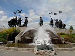 Nibelungs' monument in Tulln (liliumregale) Tags: nibelungendenkmal tulln austria österreich monumentoainibelunghi danube danubio donau fountainart