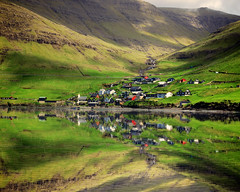 Bøur, Faroe Islands (Katya_N) Tags: bøur colorimage day famousplace faroeislands horizontal houses landscape mirror mountain nopeople ocean outdoors photography reflection sea tourism tranquilscene traveldestination village water