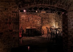 Follow me now to the vault down below. (krillmerma) Tags: adelaide apothecary vault brick cellar restaurant