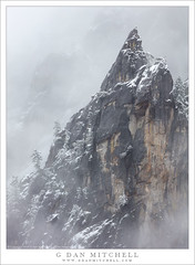 Spire, Mist, and Snow (G Dan Mitchell) Tags: mist snow spire granite yosemite valley national park emerge mountain sierra nevada california usa north america landscape nature