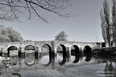 Croatia, Novigrad na Dobri - B/W Old bridge over river Dobra (Marin Stanišić Photography) Tags: croatia bridge old river dobra novigradnadobri bw