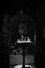 DSC05208.jpg (Raji PV) Tags: candles light church prayer jesus christ christian georgiatbilisi rajipv philipose bw stone doorway frame