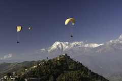 Paragliding in Nepal (volfik) Tags: abc annapurna aspen3 bigolden2 ghandruk gradient himalayas machupuchare nepal paragliding parapente pokhara trekking