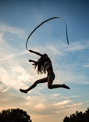 Jump 2 (W.Love) Tags: ribbon leaping leap jumpimg jump sunset evening summer
