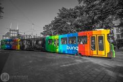 Rainbow Tram (Luke Hermans Photography) Tags: rainbow tram htm regenboog den haag hague binnenhof netherlands nederland color splash street photography straat fotografie transit openbaar vervoer bunq