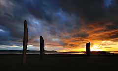Neolithic drama (images@twiston) Tags: stonesofstenness standingstonesofstenness sunset dramatic standing stones stenness neolithichenge neolithic henge stonecircle orkney scotland stone monument megalith historicscotland unesco worldheritagesite heartofneolithicorkney lochofharray lochofstenness harray neolithichengeandstonecircle standingstones megalithicyard prehistoric stoneage atmospheric island sky clouds landscape silhouette silhouetted watchstone megaliths monolith monoliths ringofbrodgar brodgar nessofbrodgar cloud imagestwiston isthmus farnorth mainlandorkney loch lochside highlands islands hill hills mountains schottland caledonia ecosse escoia alba scottishhighlands highlandsandislands northernisles
