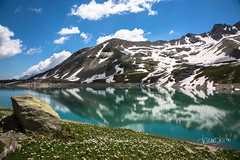 Riflesso (Le foto di Marietta) Tags: nivolet piedmont piemonte italy mountain lake water reflection snow