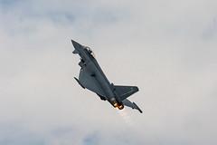 RAF Typhoon Euro Fighter (Welsh Photographer) Tags: raf typhoon euro fighter cwl cardiff airport british jet war plane pentax k3ii sigma 70200mm hsm