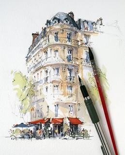 Café Français, Place de la Bastille, Paris.