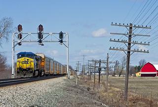 CSXT 422, CSX Pemberville Subdivision, Longley, Ohio