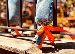 Ribbons (lindsipindsi_) Tags: dof bokeh oslo streetphotography orange jeans ribbons