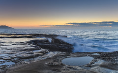 Rocky Seas Sunrise (Merrillie) Tags: daybreak theskillion nature water terrigal nsw rocky sea clouds newsouthwales rocks earlymorning morning landscape centralcoast ocean australia sunrise waterscape coastal outdoors sky seascape dawn coast cloudy waves