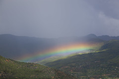 Rainbow at Paro Valley, Bhutan (magdaolson) Tags: bhutan rainbow arcoiris paro parovalley himalayas mauntain montañas asia cielo niebla