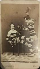 clown  pm 1860  bellen (janwillemsen) Tags: clowns circus oldphoto 1860