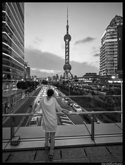 Shanghai, China (Cercle2Confusion) Tags: blackwhite blackandwhite cercle2confusion china pearltower pudong shanghai