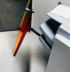 The Door to the Copier Room (byzantiumbooks) Tags: door copier selectivecolor