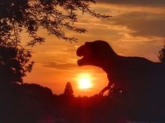 Jurassic Beatrixpark (sander_sloots) Tags: jurassic kingdom park prinses beatrixpark schiedam dini dinosaur trex dinosaurs animal exhibit exhibition show dinosaurus sun zom sunrise dusk zonsopkomst dawn