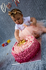 Baby Zayla-21 (Andy barclay) Tags: baby happy birthday 1st toddler girl cake smash one first smile messy portrait young pink