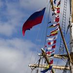 Pavillon russe et gtrand pavois, Krusenstern, , Tall Ships Regatta 2018, Bordeaux, Gironde, Nouvelle-Aquitaine, France. thumbnail
