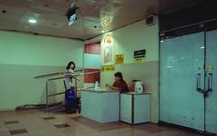 (hurtingbombz) Tags: singapore street singlehandclapping hurtingbombz urban basement toilet payment guard fujifilm xt2