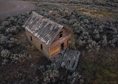 Dream House (Chris Lakoduk) Tags: couleecity washington unitedstates us abandoned drone dji mavic pro old house fallingapart derelict condemned homestead rustic rural weathered flying