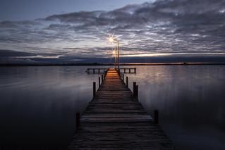 Dock Straight to the horizon