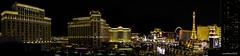 Vegas Panorama (evanffitzer) Tags: lasvegas vegas panorama pano fujix100s fujifilmx100s stitch wide night colour city lights thestrip eiffel paris caesarspalace bellagio cosmopolitan