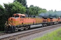Eastbound Grain Train (kschmidt626) Tags: union pacific train illinois rochelle park railroad graffiti bnsf burlington diamond