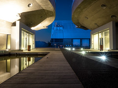 Sugar City 2018: Sparkle and reflection (mdiepraam) Tags: sugarcity halfweg 2018 industrial architecture dusk building factory bluehour reflection pond