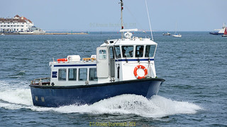 One of the many boats that use Poole Harbour in June 2018, Poole, Dorset. England.
