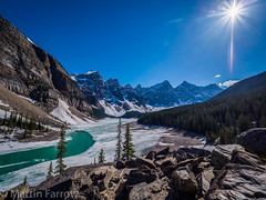 _5227952-HDR (Hyperfocalist) Tags: canada alberta spring rocky mountains moraine lake green ice frozen water trees rocks