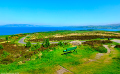 Scotland West Highlands Argyll a view from the summit of the island of Cumbrae 28 May 2018 by Anne MacKay (Anne MacKay images of interest & wonder) Tags: scotland west highlands argyll mountain view summit island cumbrae sea landscape seat bench xs1 28 may 2018 picture by anne mackay