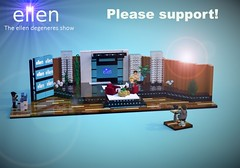 Lego Ellen Degeneres (Firecreator11) Tags: ellen degeneres lego ideas creation reality tv show toy block dj gardener andy support help