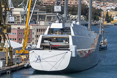 Super Sailing Yacht A in Cartagena (dcnelson1898) Tags: cartagena spain coast port cruise travel vacation hollandamericaline oosterdam mediterraneansea boat ship
