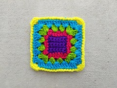 Another rehabbed crochet remnant (crochetbug13) Tags: crochet crocheted crocheting crochetsquare grannysquare usewhatyouhave repurposedcrochet