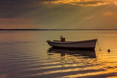 Baltic Sea (bożenabożena) Tags: landscape water sea baltic sunset sky boat krajobraz morze woda zachódsłońca niebo łódż łódź poland