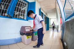 USAID_MWRP_Vietnam_2018-217.jpg (USAID Urban) Tags: 2018 uniform source urban wastebin tuducsecondaryschool boys youth recyclebin vietnam student separationofwaste municipalwasteandrecyclingprogrammwrp enda photocreditnguyenminhduc