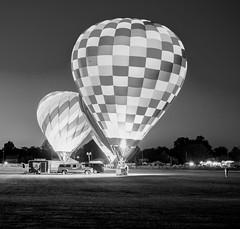 Gondola Light (AJ8609) Tags: balloon hot air ashland fest glow monochrome monochromatic black white ohio