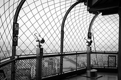 Waiting the viewers (Janne Räkköläinen) Tags: 2018 may eiffel tower high view viewers telescope urban paris pariisi france ranska eiffeltower crossing waiting noone lens cloudy canon6d canon canonphotography ef24105l amateur amateurphotography cityview citylife cityviews blackwhite bnw bw nopeople rainy worthtovisit kaupunki kaupunkikuvaus katukuvaus