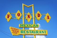 FONDA (i saw the Sign) Tags: restaurant mexican sign signage ghostneon diamond drivein alabama fortpayne al route11 ushighwayroute11 us11