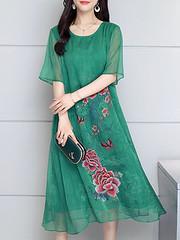 Vintage Short Sleeve Layered Floral Dress (1290961) #Banggood (SuperDeals.BG) Tags: superdeals banggood clothing apparel vintage short sleeve layered floral dress 1290961