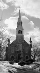 St-Joseph Catholic Church (pegase1972) Tags: qc québec quebec canada church église religiousbuildings montérégie monteregie winter snow hiver neige blackandwhite bw
