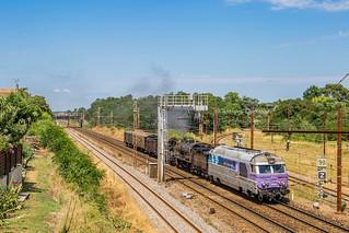 01 juillet 2018  BB 67628-140C38  Train 803559 Limoges -> Bordeaux-Hourcade Libourne (33)