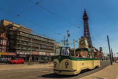 Heritage tram (Gary S Bond) Tags: great britain united kingdom 2018 a65 alpha blackpool coast england july lancashire north promenade seaside shabbagaz sony summer tram uk west greatbritain unitedkingdom