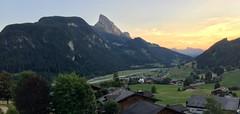 The Rubli at sundown (oobwoodman) Tags: switzerland suisse schweiz gstaad berneroberland sunset sundown sonnenuntergang couchedesoleil airport aéroport flughafen flugplatz runway piste rubli alps alpen alpes mountains montagne berge huus saanen