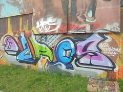 1543 (en-ri) Tags: daros idrolab alta tensione verde rosa blu torino wall muro graffiti writing parco dora nero arancione lilla